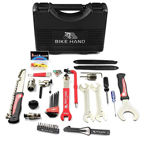Bikehand 17 Piece Bike Bicycle Repair Tool Kit Bike Bicycle Repair Tool Kit with Torque Wrench
