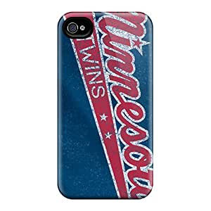 Iphone 4/4s Iqo10243kZwl Support Personal Customs Vivid Minnesota Twins Image Scratch Resistant Cell-phone Hard Cover -MansourMurray