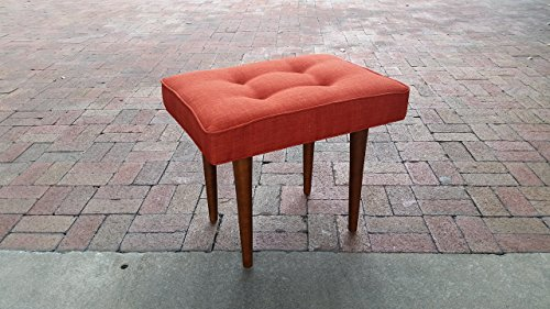 Mid-Century Modern Upholstered Ottoman or End table~ Design 59 inc.