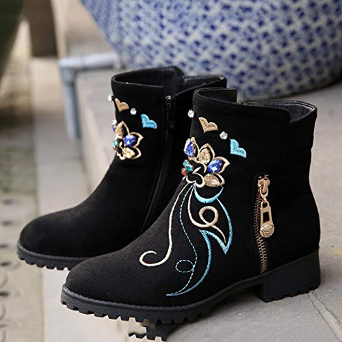 boots Mid B Material High Heel Short Boots,Increased Height warm Increase Keep Women's Internal Boots Height,Frosted Heel Fall High Calf Shoes Winter XUE vFB1qx
