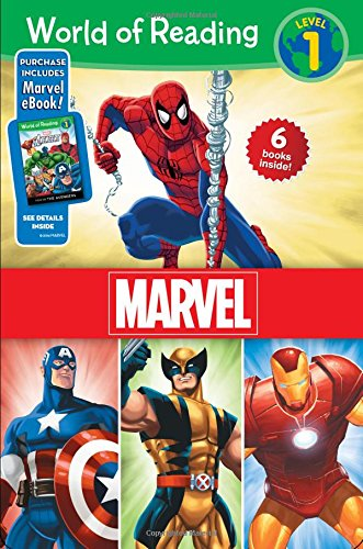 World of Reading Marvel Boxed Set: Level 1 - Purchase Includes Marvel eBook!