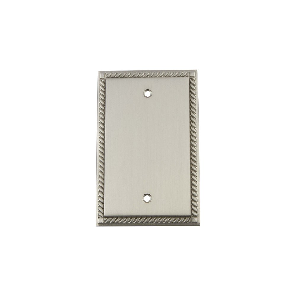 Nostalgic Warehouse 719901 Rope Switch Plate with Blank Cover Bright Chrome