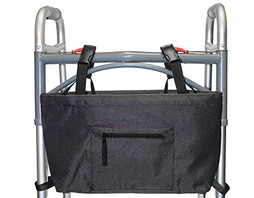 (RMS Walker Bag with Soft Cooler - Water Resistant Tote with Temperature Controlled Thermal Compartment, Universal Fit for Walkers, Scooters or Rollator Walkers)