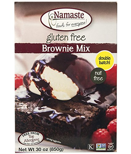Namaste Foods, Gluten Free Brownie Mix, 30-Ounce Bags (Pack of 6) by Namaste Foods