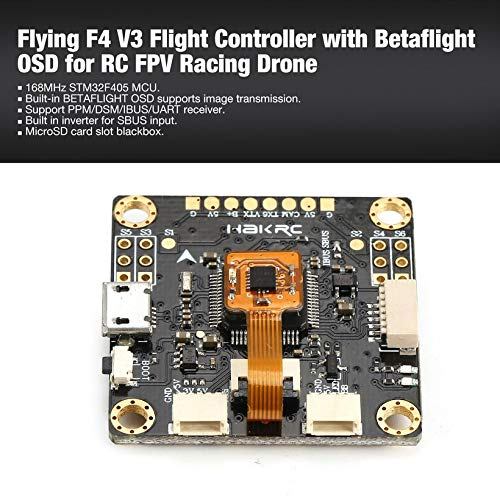 Wikiwand Flying F4 V3 Flight Controller with Betaflight OSD for RC FPV Racing Drone by Wikiwand (Image #1)