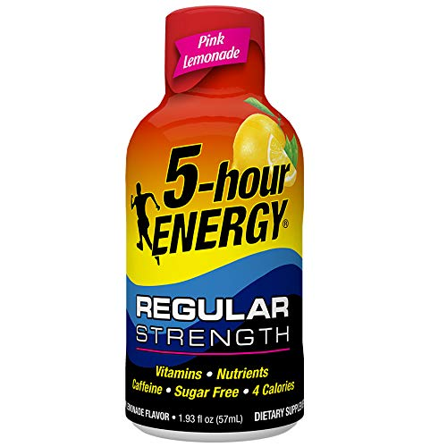Regular Strength 5-hour ENERGY Shots – Pink Lemonade – 24 Count ()