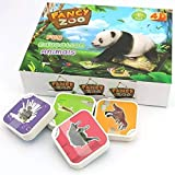 Geniebox Fancy Zoo Augmented Reality Educational 4D Card Game for Kids (4 Categories, 68 Pieces, 2-12 Years)