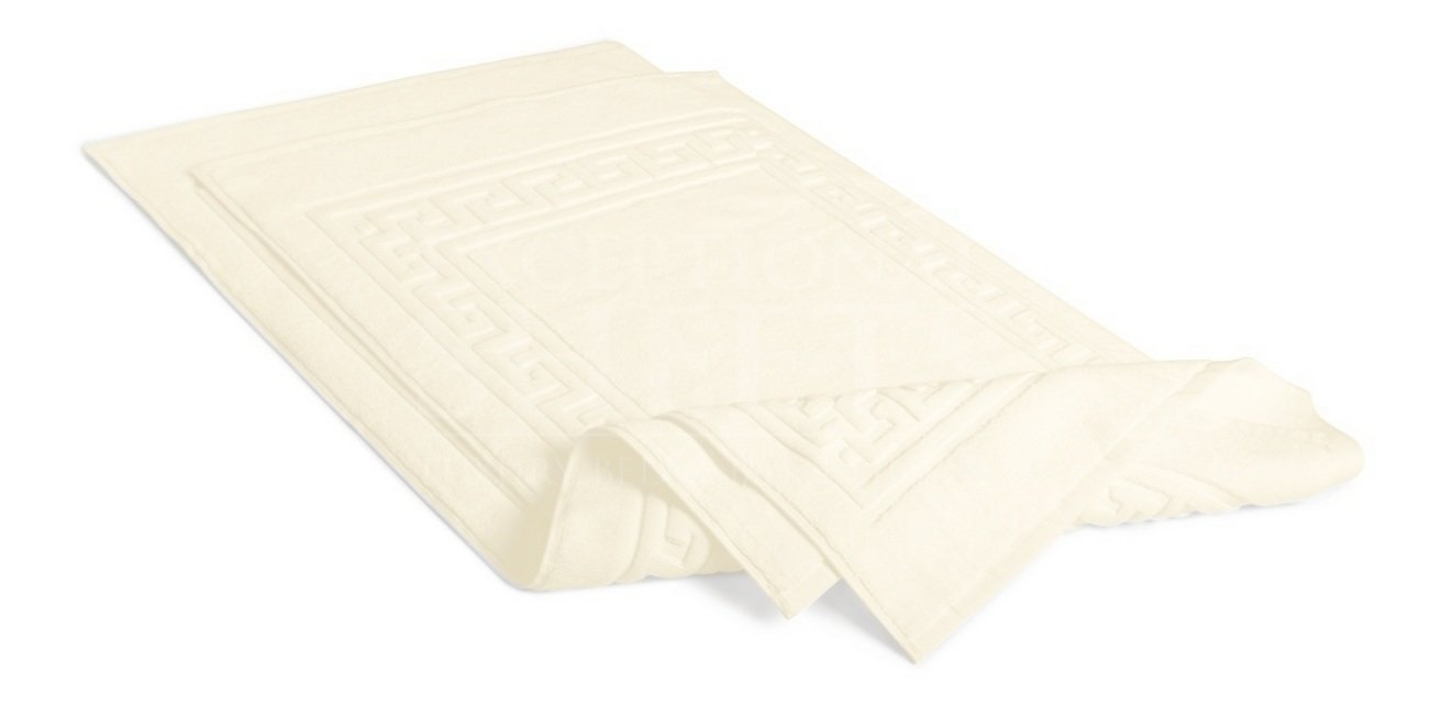 2 PACK Egyptian Cotton Quality Bath Mat Or Shower Mat IVORY By MARRIKAS FBAMATCREAM2