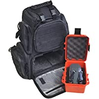 Case Club DJI Mavic Backpack with Protective Drone Case, Rainfly, & Molle Straps