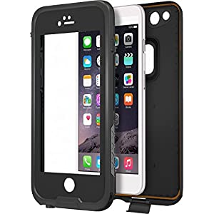 """CellEver iPhone 6 / 6s Case Waterproof Shockproof IP68 Certified SandProof SnowProof Full Body Protective Cover Fits Apple iPhone 6 and iPhone 6s (4.7"""") - (Black)"""
