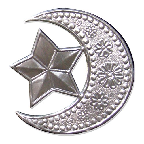 Kunze Dresden Crescent Moon with Star, Silver