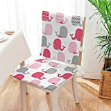 Mikihome Seat Cushion Whale ed Whales Design Perfect for Baby and Toddler Rooms Pink Grey and Light Pink 2 Piece Set Home Fashions seat Cushion Set Mat:W17 x H17/Backrest:W17 x H36