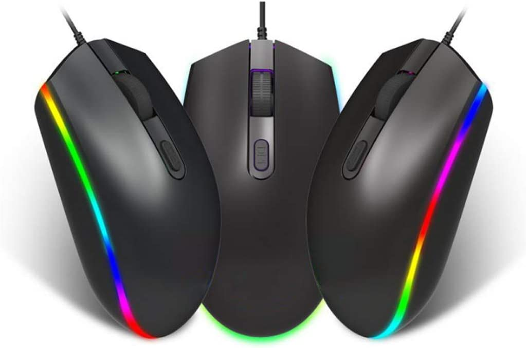Gaming Mouse 4 Button USB Wired Mouse S900 Backlight RGB LED Optical Mouse 1600DPI Gaming Mouse Ergonomics