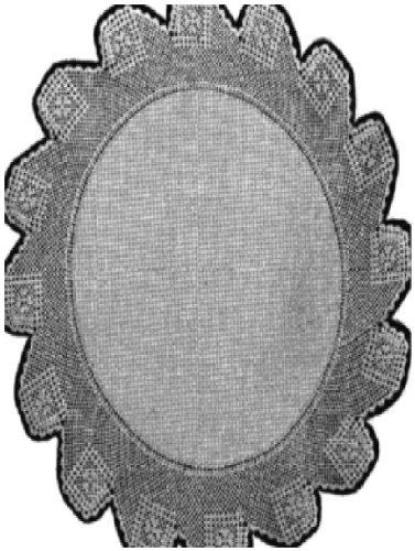#0399 FILLET CROCHET DOILY VINTAGE KNITTING PATTERN (Single Patterns)