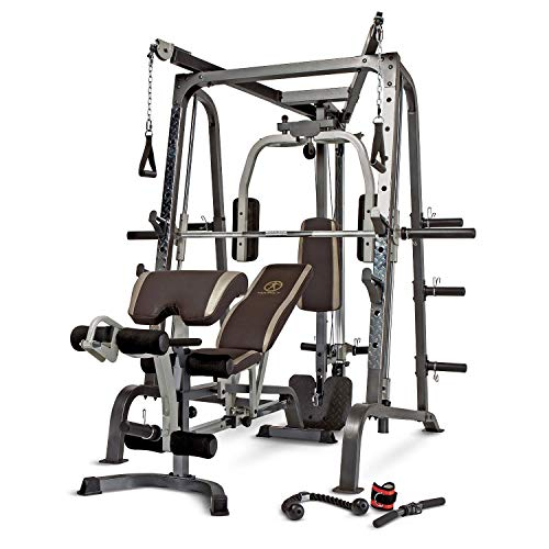 - Marcy Smith Cage Workout Machine Total Body Training Home Gym System with Linear Bearing MD-9010G
