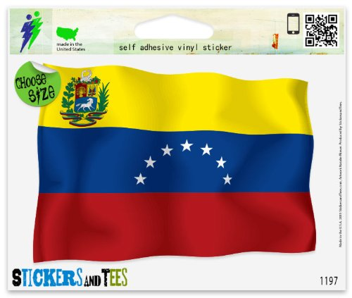 Venezuela Flag Vinyl Car Bumper Window Sticker 3