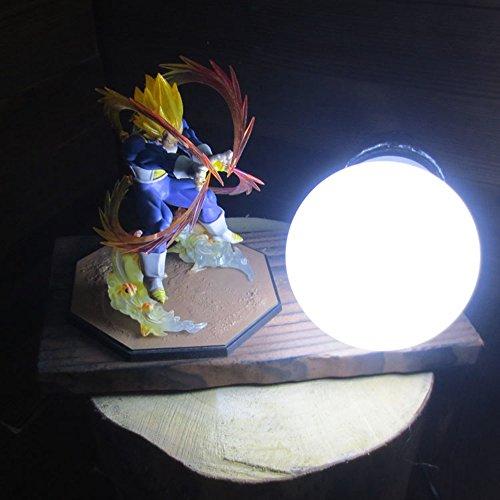 Dragon Ball Super Saiyan Vegeta Genki Dama Spirit Bomb LED Table Lamp by Aurookeb
