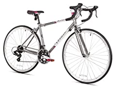 The Venus acciao is the perfect entry level road bike designed specifically for women. It's 14-speed shimano tourney sti drive train will allow for quick shifting to keep you moving down the road. It features 32 hole high v-profile alloy rims...
