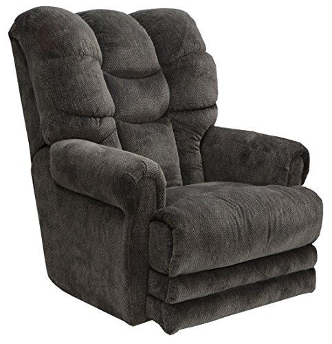 4257-7-1770-53 (Slate) Catnapper Malone Lay Flat Recliner with Extended Ottoman. Free Curbside Delivery