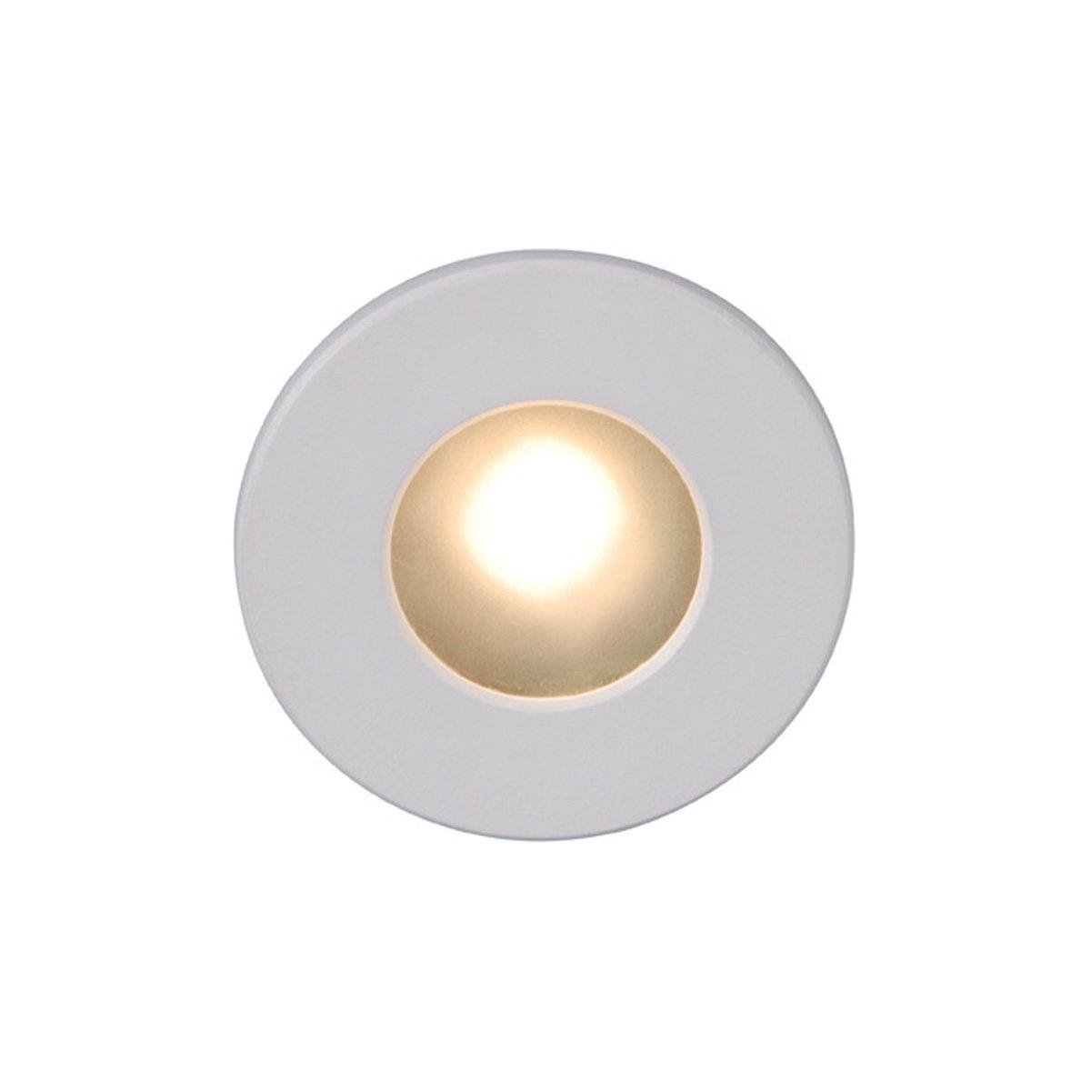 WAC Lighting WL-LED310-C-WT LED Step Light Circular Face by WAC Lighting