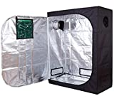 Funlife 48''x24''x60'' Mylar Hydroponic Grow Tent with Observation Window and Floor Tray for Indoor Plant Growing 2'x4'