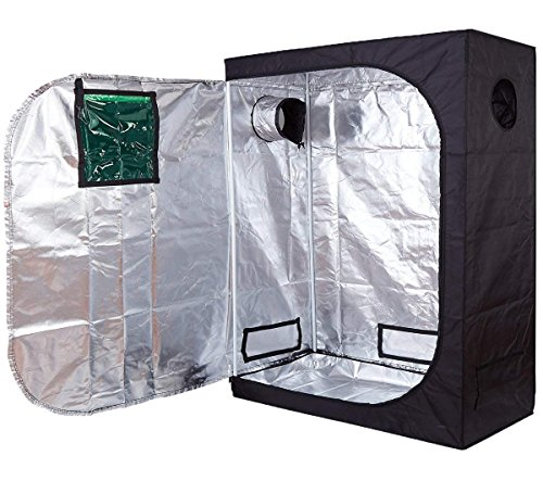 Funlife 48''x24''x60'' Mylar Hydroponic Grow Tent with Observation Window and Floor Tray for Indoor Plant Growing 2'x4' by Funlife