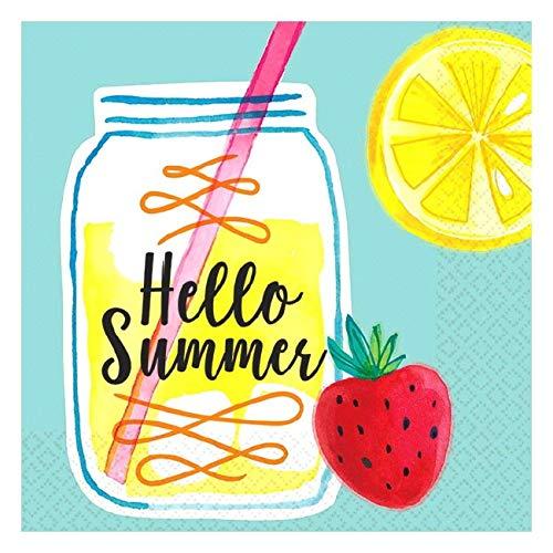 - Amscan 50777707 Favor, Lemonade Beverage Napkins Party Supplies, One Size, Multicolor