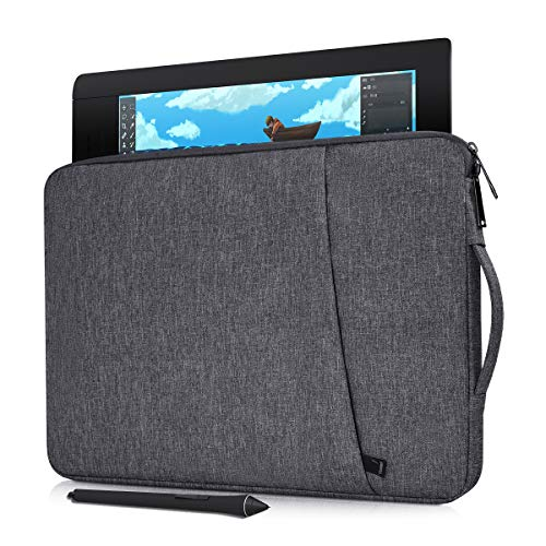 """Portable Drawing Graphics Tablet Sleeve Protective Case for Wacom Intuos Pro, VEIKK A30 A50, UGEE M708, XP-Pen Star03 V2 12"""", Wacom One, Wacom Cintiq Pro 13 Drawing Sleeve Bag(Space Grey)"""