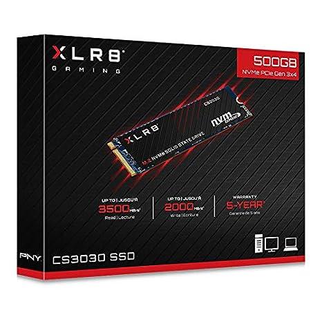 Disco Duro s/ólido PNY XLR8 CS3030 Unidad de Estado s/ólido M.2 250 GB PCI Express 3D TLC NVMe 250 GB, M.2, 3500 MB//s