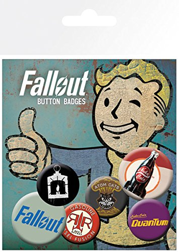 Fallout - 6 Piece Button / Pin / Badge Set (Logo Mix2)