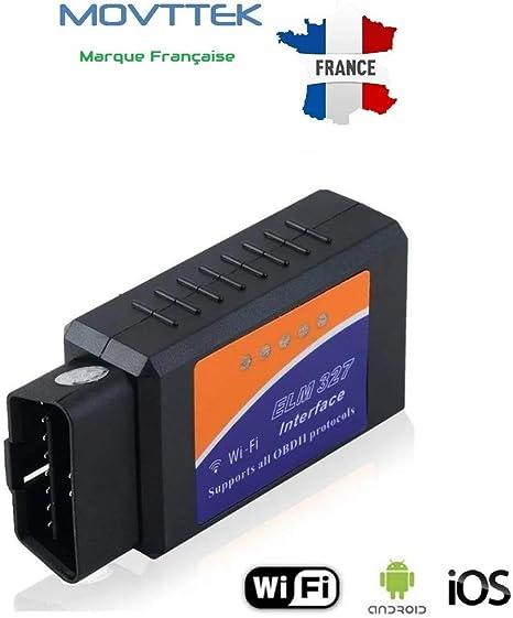 Puce ELM327 prise diagnostic OBD2 lecteur code defaut bluetooth BY