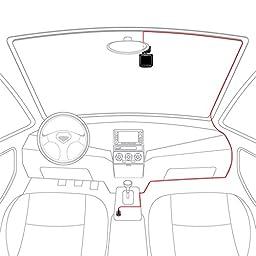 BC Master 1080P 170° Dash Cam, 3-Port Smart IC Car Charger, GPS Module, Parking Guard, G-Sensor, Loop Recording, Night Vision, 2.0\