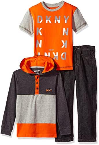 DKNY Boys' Jacket, T-Shirt and Pant Set (More Styles Available)