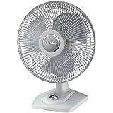 "Lasko D12900 Oscillating Premium Table Fan, 12"", Light Grey"