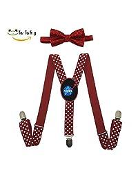 Grrry Kids NA/SA Trek Adjustable Y-Back Suspender+Bow Tie