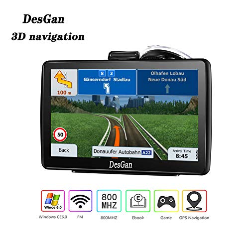 GPS Navigation for Car,7 inch 8GB HD Navigation System for Cars, Live Voice Navigation, Free Map Updates
