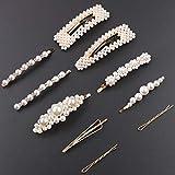 10PCS Elegant Pearl Hair Clips for Women - Big Hair Styling Pins Bridal Wedding Hair Accessories Gold Hair Barrettes