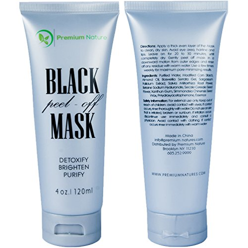 Charcoal Mask To Clear Pores And Detox Skin: Black Charcoal Peel Off Mask