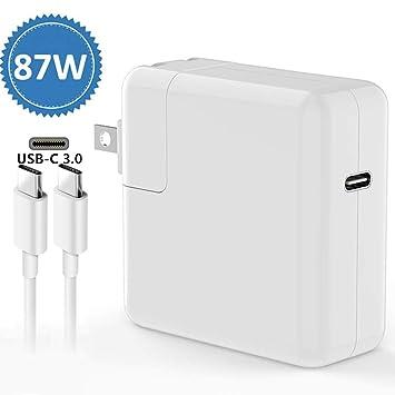 Amazon.com: 87W USB-C Cargador Adaptador de Alimentación ...