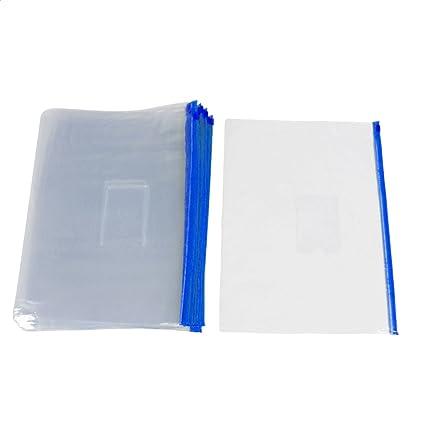 20 Bolsas Transparentes con Cierre Ziplock Azul para Papel ...