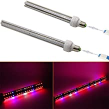 Zehui Full Spectrum Lamp for Greenhouse Hydroponic Garden Indoor Plants and Flower All Stages of Plant Growth 360 Degree Light Fill Light Super Bright LED Grow Lights 80W EU Plug