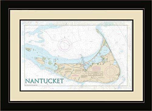 Northwest Art Mall MA-8705 FGDM Nantucket Island Massachusetts Framed Wall Art, 16