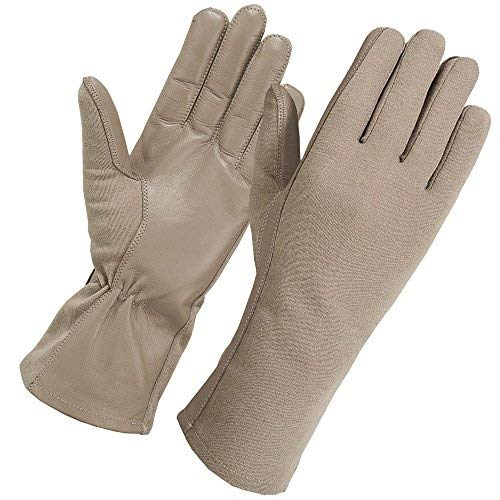 Secpro Tactical Cold Weather Nomex Pilot Flight Gloves Fleece Lined Tan LRG