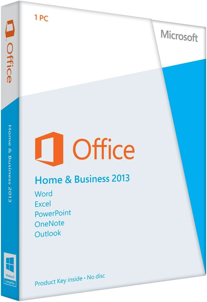 microsoft office home and business 2013 disc version