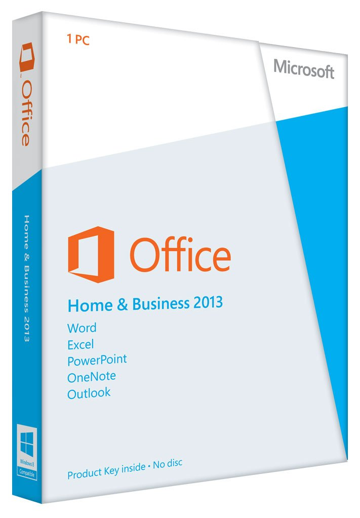Office Home & Business 2013 Key Card 1PC/1User by Microsoft