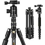K&F Concept 60'' Ultra Compact and Lightweight Aluminum Travel Tripod with Monpod,360° Panorama Ball Head for Canon Nikon Sony DSLR Camera
