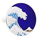 HOKUSAI WAVE CUFFLINKS - BLUE