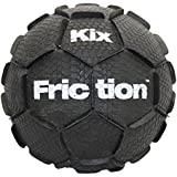 KixFriction Street Soccer Ball by 1GKUSA - Revolutionary Patented Design, Top Soccer Training Ball and Awesome for Street Soccer (Black, Size 5)