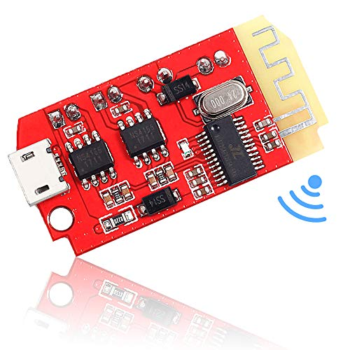 Icstation Bluetooth Receiver Board Stereo Audio Amplifier 2x5W Mini Amp Module 3.7-5V for Portable DIY Wireless Speaker (Best Diy Audio Amplifier)