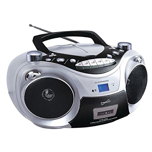 Supersonic CD MP3 Bluetooth AM FM Boombox Red (Each)